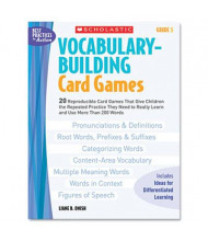 Scholastic Vocabulary Grade 5 Building Card Games, 80 pages