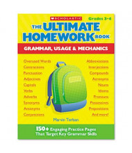 Scholastic The Ultimate Grammar, Usage & Mechanics Homework Book, Grades 3-6, 176 Pages