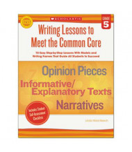 Scholastic Writing Lessons To Meet the Common Core Grade 5 Book, 64 Pages
