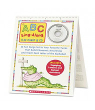 Scholastic ABC Sing-Along CD & Flip Chart Book, Grades Pre K-1, 26 pages