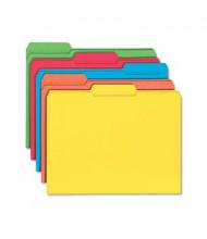 Smead Reinforced 1/3 Cut Top Tab Letter File Folder, Assorted, 100/Box