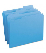 Smead Reinforced 1/3 Cut Top Tab Letter File Folder, Blue, 100/Box
