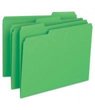 Smead 1/3 Cut Top Tab Letter File Folder, Green, 100/Box