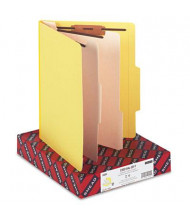 Smead 6-Section Letter 14-Point Stock Classification Folders, Yellow, 10/Box