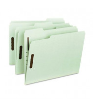 "Smead Recycled Letter 1"" Expanding 1/3 Cut Top Tab 2-Fastener Pressboard Folder, Gray-Green, 25/Box"