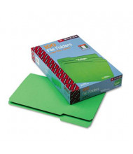 Smead 1/3 Cut Top Tab Legal File Folder, Green, 100/Box