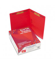 Smead Heavyweight Straight End Tab 2-Fastener Letter Folder, Red, 50/Box
