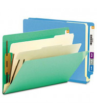 Smead 6-Section Letter 14-Point Stock End Tab Classification Folders, Blue, 10/Box