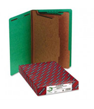 Smead 6-Section Legal 23-Point Pressboard Classification Folders, Green, 10/Box