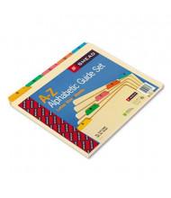 Smead Alphabetic 1/5 Top Tab Letter Index File Guide Set, Manila, 1 Set