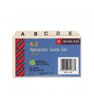 """Smead Alphabetic 1/5 Self-Tab 3"""" x 5"""" Card File Guides, Manila, 1 Set"""