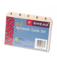 """Smead Alphabetic 1/5 Self-Tab 4"""" x 6"""" Card File Guides, Manila, 1 Set"""
