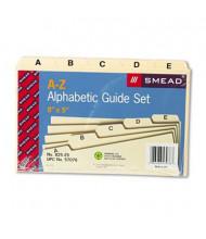 """Smead Alphabetic 1/5 Self-Tab 5"""" x 8"""" Card File Guides, Manila, 1 Set"""