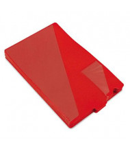 Smead Legal End Tab Out File Guide with Diagonal Pockets, Red, 50/Box