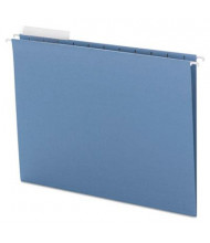 Smead Letter 1/3 Tab Hanging File Folders, Blue, 25/Box