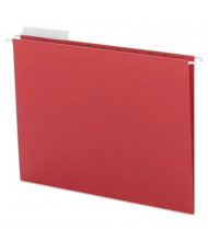 Smead Letter 1/3 Tab Hanging File Folders, Red, 25/Box