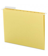 Smead Letter 1/3 Tab Hanging File Folders, Yellow, 25/Box