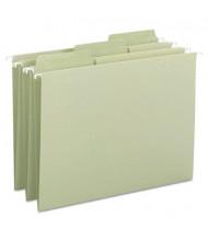 Smead Erasable Fastab Letter Hanging File Folders, Moss Green, 20/Box