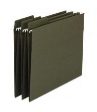 Smead Fastab Letter 1/3 Tab Hanging File Folders, Green, 20/Box