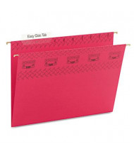 Smead Letter Tuff Hanging Folders, Red, 18/Box