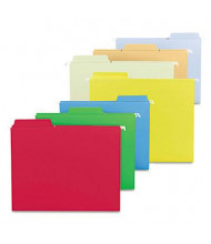 Smead Fastab Letter Hanging File Folders, Assorted Bold Colors, 18/Box