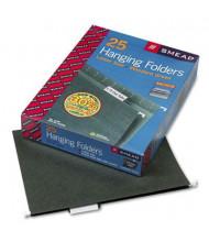 Smead Letter 1/5 Tab Hanging File Folders, Green, 25/Box