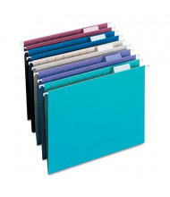 Smead Letter 1/5 Tab Hanging File Folders, Assorted Colors, 25/Box