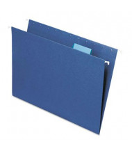 Smead Letter 1/5 Tab Hanging File Folders, Navy, 25/Box