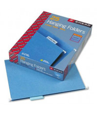 Smead Letter 1/5 Tab Hanging File Folders, Blue, 25/Box