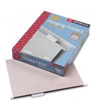 Smead Letter 1/5 Tab Hanging File Folders, Gray, 25/Box