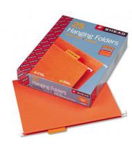 Smead Letter 1/5 Tab Hanging File Folders, Orange, 25/Box