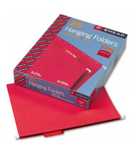 Smead Letter 1/5 Tab Hanging File Folders, Red, 25/Box