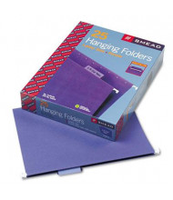 Smead Letter 1/5 Tab Hanging File Folders, Purple, 25/Box