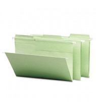 Smead Fastab Legal 1/3 Tab Hanging File Folders, Moss Green, 20/Box