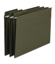 Smead Fastab Recycled Legal Hanging File Folders, Green, 20/Box