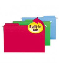 Smead Fastab Legal 1/3 Tab Hanging File Folders, Assorted Colors, 20/Box