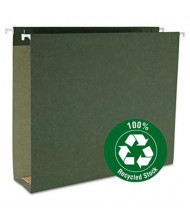 "Smead Letter Assorted 1-3"" Box Bottom Hanging Files, Green, 25/Box"