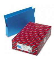 "Smead Legal 2"" Expanding Box Bottom Hanging File, Sky Blue, 25/Box"