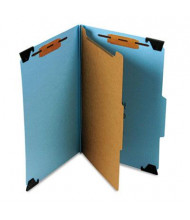 Smead 4-Section Legal 23-Point Pressboard Hanging Classification Folder, Blue, Each