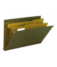 Smead Recycled 6-Section Hanging Legal Classification Folders, Green, 10/Box