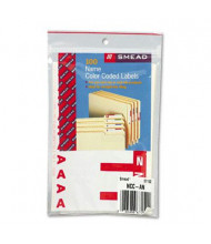 "Smead 3-1/8"" x 1-5/32"" Letters ""A & N"" Color-Coded First Letter Combo Labels, Red, 100/Pack"