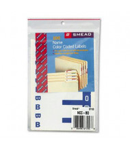 """Smead 3-1/8"""" x 1-5/32"""" Letters """"B & O"""" Color-Coded First Letter Combo Labels, Dark Blue, 100/Pack"""