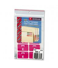 "Smead 1"" x 1-3/5"" Letter ""E"" Color-Coded Second Letter Labels, Purple, 100/Pack"