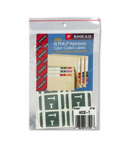 "Smead 1"" x 1-3/5"" Letter ""T"" Color-Coded Second Letter Labels, Gray, 100/Pack"