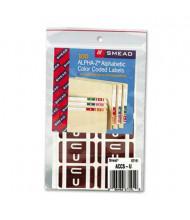 "Smead 1"" x 1-3/5"" Letter ""U"" Color-Coded Second Letter Labels, Dark Brown, 100/Pack"