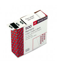 """Smead 1-1/4"""" x 1"""" Number """"5"""" Single Digit End Tab Labels, Dark Green-on-White, 500/Roll"""