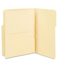 Smead Letter Self-Adhesive Folder Dividers with 5-1/2 Pockets, Manila, 25-Pack