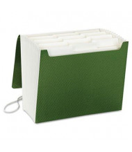 Smead 12-Pocket Letter SuperTab Expanding File with Closure, Green