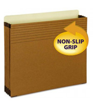 """Smead Letter 3-1/2"""" Expanding Full-Height Easy Grip Pocket, Redrope, 25/Box"""