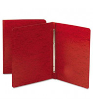 """Smead 3"""" Capacity 8-1/2"""" x 11"""" Prong Fastener Side Opening Pressboard Report Cover, Bright Red"""